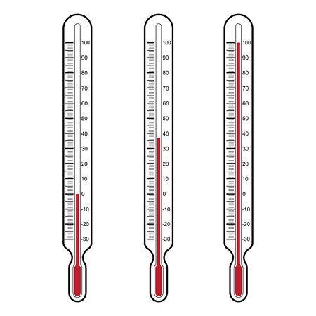 thermometers  Vector illustration