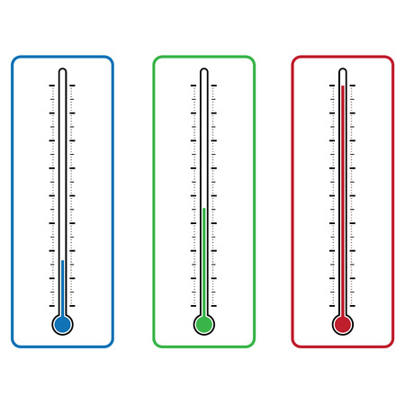 kelvin: thermometers on white background vector illustration Illustration