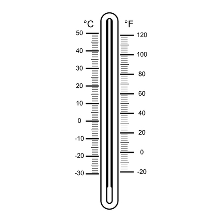 thermometers on white background vector illustration Illustration