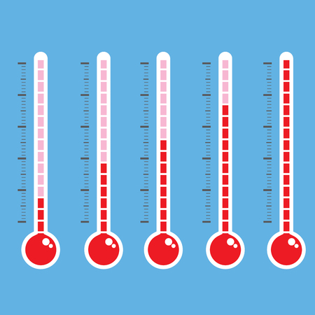 thermometer icon on blue background vector illustration
