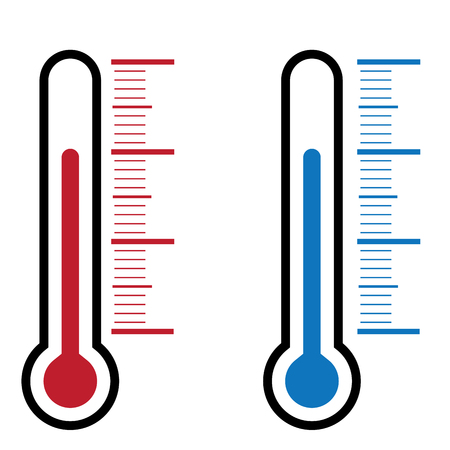 kelvin: thermometer icon on white background vector illustration