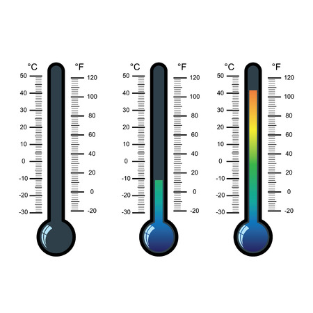 thermometer icon on white background vector illustration Vektorové ilustrace
