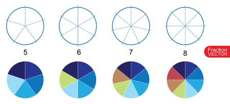 clip de arte de la cinta de división para la educación en el fondo blanco del vector