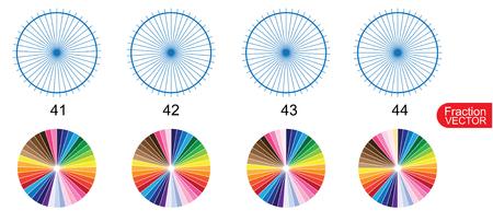 Fraction Pie clip art  for education on white background vector illustration Illusztráció