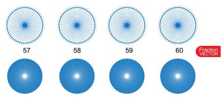 mathematics: Fraction Pie clip art  for education on white background vector illustration Illustration