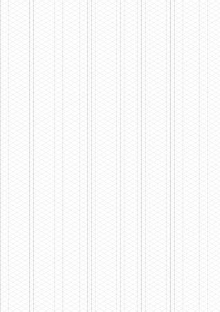Isometric Grid vector illustration on white background