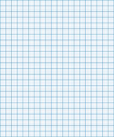 Blauw grafiek papier coördineer papier rooster papier vierkant papier Stock Illustratie