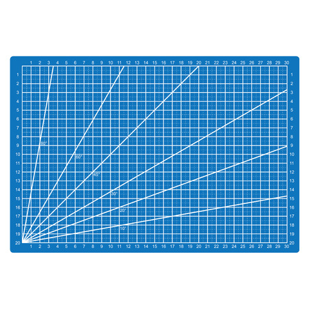 Grid lines cutting mat fabric pattern.