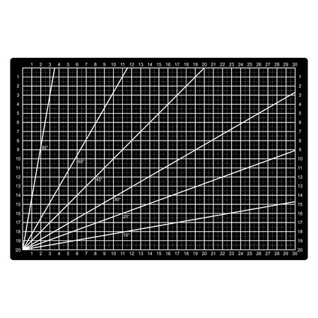 Grid lines cutting mat fabric pattern.