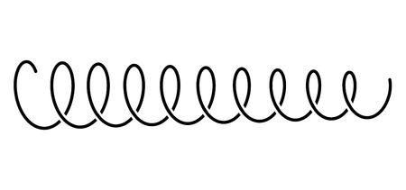 Sprężyna śrubowa stalowa sprężyna metalowa sprężyna na białym tle ilustracji wektorowych.