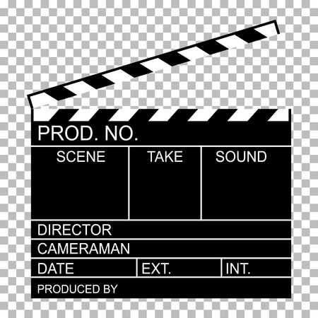 blank of director clapboard movie clapboard  or  isolated on transparent background vector illustration Иллюстрация