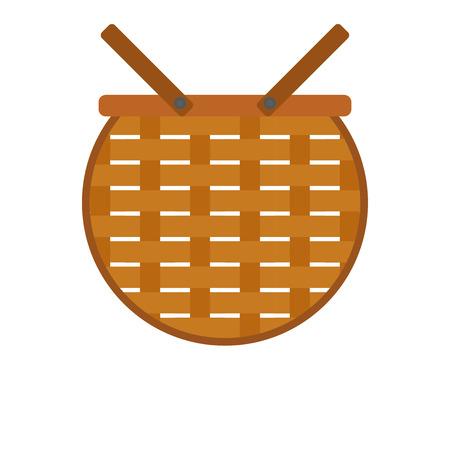 basket icon design Christmas background or Christmas elements isolate on white background vector illustration Vector Illustration