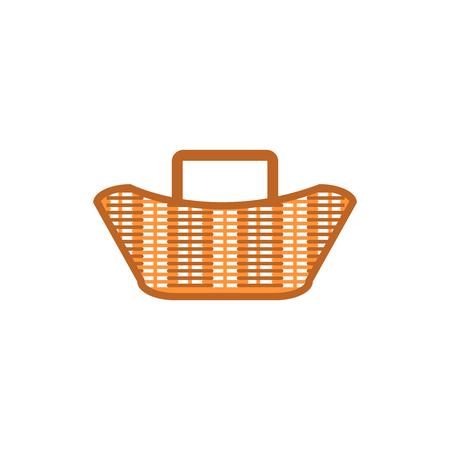 basket icon design Christmas background or Christmas elements isolate on white background vector illustration