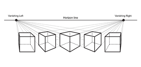 rysunek perspektywiczny na białym tle ilustracji wektorowych Ilustracje wektorowe