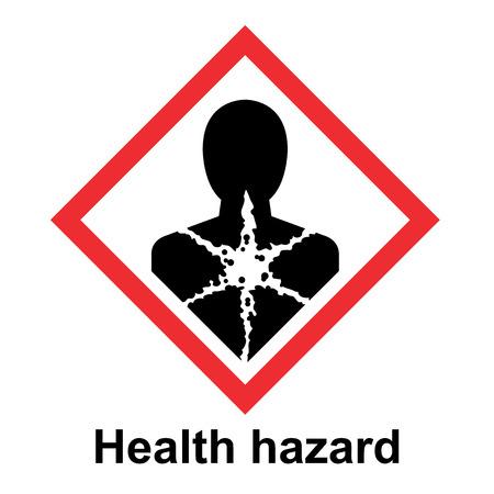 Il sistema globale armonizzato di classificazione ed etichettatura delle sostanze chimiche vettore su sfondo bianco illustrazione Vettoriali