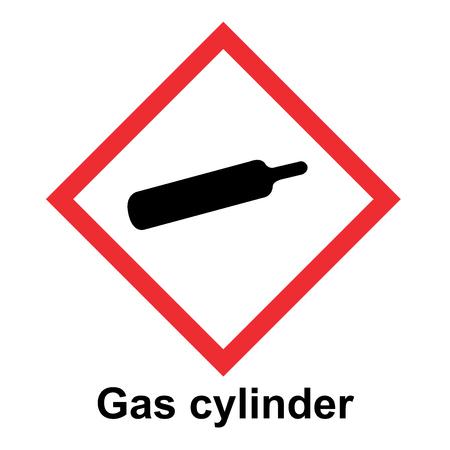 El vector del sistema globalmente armonizado de clasificación y etiquetado de productos químicos en la ilustración de fondo blanco
