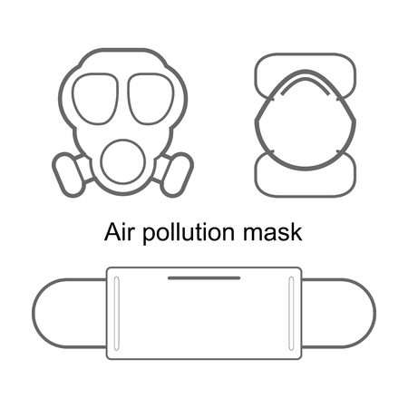 air pollution mask isolated on white background air pollution mask icon air pollution mask symbol vector