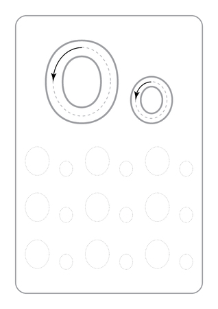 Kindergarten Tracing Letters Worksheets monochrome Tracing Letters Worksheets on white background vector illustration Ilustración de vector