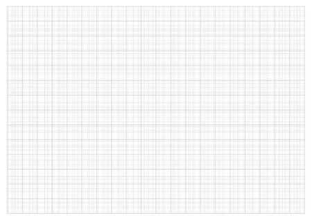 Usuń papier 2,0 cm siatka i wykres w skali 1:50 wektor