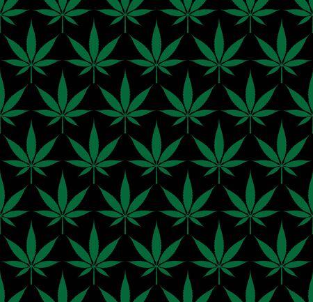 Seamless marijuana cannabis pattern vector image    illustration