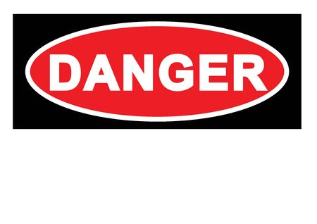 Warning sign Danger Sign with blank space for your text printable paper templates available for A4 paper vector  イラスト・ベクター素材