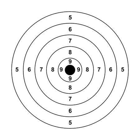 freccia vuota bersaglio pistola bianca bersaglio carta da tiro bersaglio bersaglio bianco sfondo bersaglio carta da tiro tiro su sfondo bianco