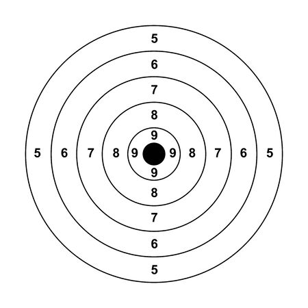 objetivo de flecha en blanco pistola en blanco papel de objetivo tiro al blanco fondo de objetivo en blanco tiro al blanco de papel sobre fondo blanco