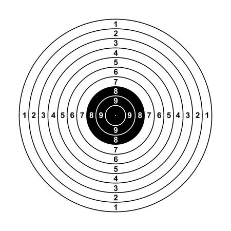 blank arrow  target  blank gun target paper shooting target blank target background target paper shooting on white background Illustration