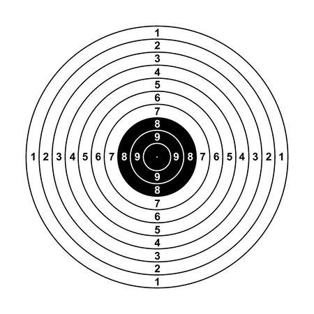 leeres Pfeilziel leeres Gewehrzielpapier Schießziel leeres Zielhintergrund Zielpapier Schießen auf weißem Hintergrund