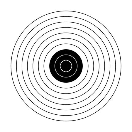 freccia vuota bersaglio pistola bianca bersaglio carta da tiro bersaglio bersaglio bianco sfondo bersaglio carta da tiro tiro su sfondo bianco Vettoriali