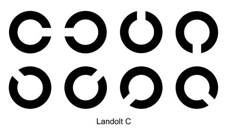 C symbol Rings, C sign on white background