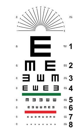 Tumbling E, eyes Chart vector  イラスト・ベクター素材