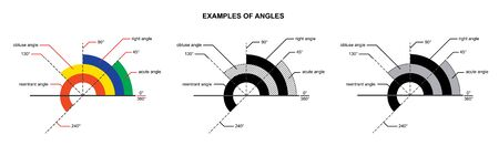 example angles isolated on white background vector illustration Ilustração