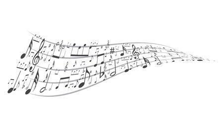 music symbol background , Elements musical background music background  vector Ilustração