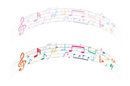 music symbol background , Elements musical background music background  vector 向量圖像