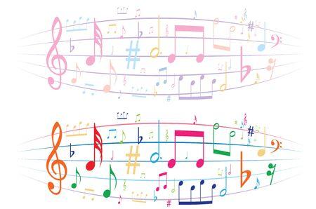 music symbol background , Elements musical background music background  vector Illustration