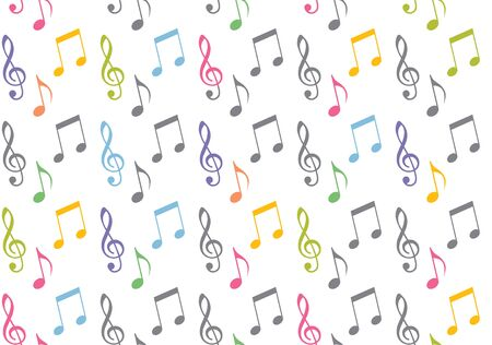 seamless musical symbols and marks seamless background with musical notes,  Seamless pattern with music notes  vector 向量圖像