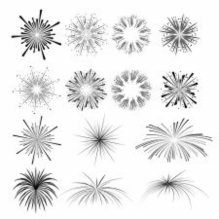 firework silhouette for greeting card and party poster.Celebration and cheerful holiday