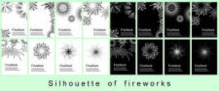 firework silhouette for greeting card and party poster.Celebration and cheerful holiday. 向量圖像
