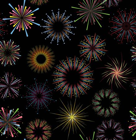 fireworks seamless pattern. Seamless  of fireworks. fireworks pattern. Funny  pattern. Abstract seamless pattern. Star seamless .