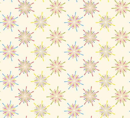 Abstract fireworks seamless pattern. Seamless  of fireworks. Funny  pattern. 向量圖像