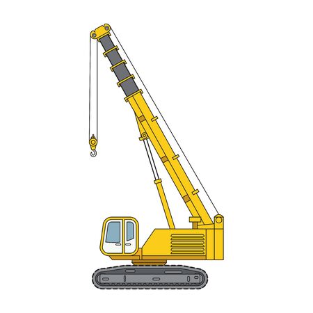 Telescopic Cranes Components,  Telescopic Cranes graphic. Telescopic Cranes  clipart on white background 向量圖像