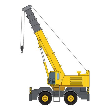 Telescopic Cranes Components,  Telescopic Cranes graphic. Telescopic Cranes  clipart on white background. 向量圖像