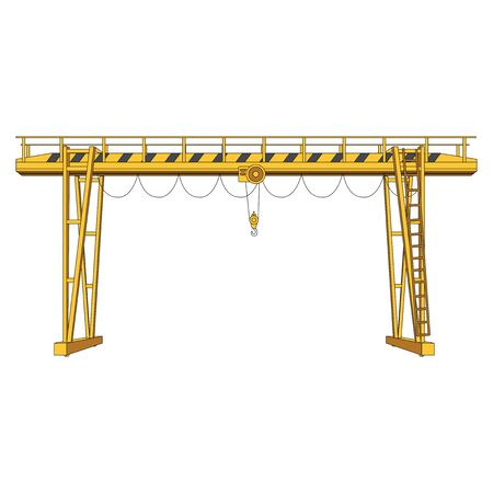 overhead gantry cranes  Components,  overhead gantry cranes graphic. overhead gantry cranes  clipart on white background