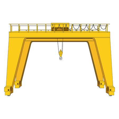 overhead  cranes  clipart on white background 向量圖像