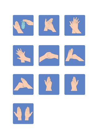Healthcare educational infographic. how to wash your hands properly step by step.