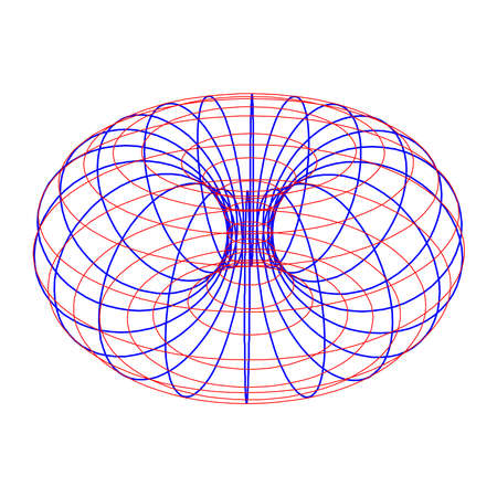 Torus Topology Circle Geometry Mathematics on white background. 向量圖像