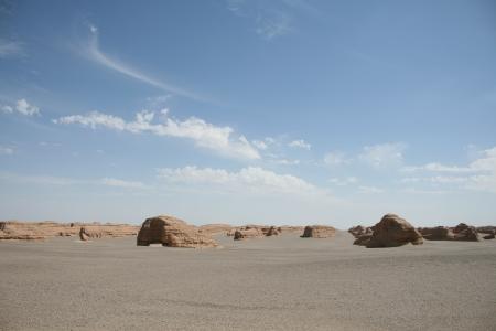 Yadan landform in Gobi Desert, Dunhuang China Stock Photo - 14253344