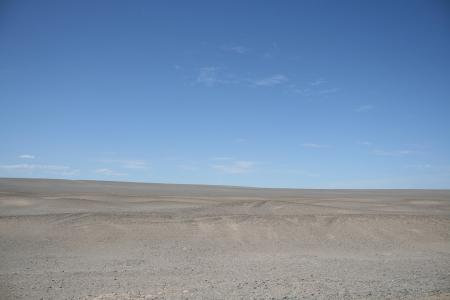 jiayuguan pass tower: Gobi desert in Dunhuang China
