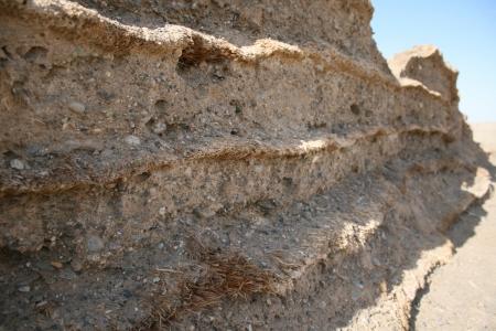 jiayuguan pass tower: Han dynasty Great wall Gobi Desert Stock Photo